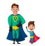 Superhero in uniform. Cartoon vector illustration Stock Photo