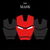 Superhero van de maskerheld met schaduw en het woord Stock Foto's