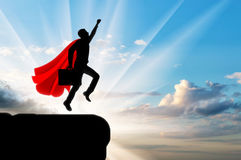 Superhero van de supermanzakenman vector illustratie