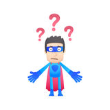 Superhero in various poses Royalty Free Stock Images
