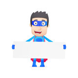 Superhero in various poses Stock Image