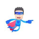 Superhero in various poses Royalty Free Stock Image