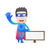 Superhero in various poses Royalty Free Stock Photo