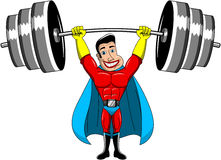 Superhero Weightlifter Power Isolated Stock Images
