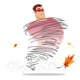 Superhero whirlwind Stock Image