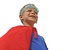 Superhero on White Stock Images