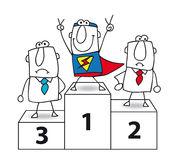 Superhero is the winner Stock Images