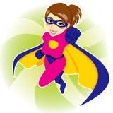 Superhero Woman. Illustration of beautiful sexy woman in superhero costume Stock Photo