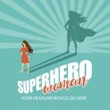 Superhero woman burst background Royalty Free Stock Photography