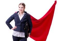 The superhero woman isolated on white background. Superhero woman isolated on white background royalty free stock photos