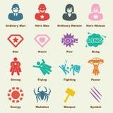 Superherobeståndsdelar Arkivbild