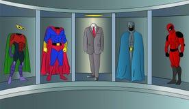 Superherodräkt för affärsvektorillustration stock illustrationer