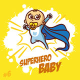 Superheroen behandla som ett barn pojken Clipart Arkivfoton