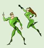 Superheroes royalty free illustration