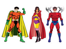 Superheroes #1 stock illustratie