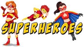 superheroes stock de ilustración