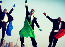 Superheroes Businessmen Flying Inspiration Concept Royalty Free Stock Photo