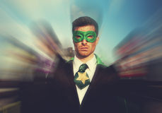 Superheroes Businessmen Pride Team Rescue Concept Stock Images