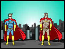 Superheroes in the city Stock Photo