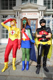 Superheroes at festival Everycon Stock Image