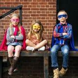 Superheroes Kids Friends Brave Adorable Concept. Superheroes Kids Friends Brave Adorable Royalty Free Stock Photos