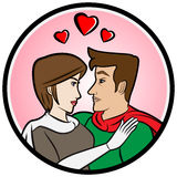 Superheroes in Love Royalty Free Stock Images