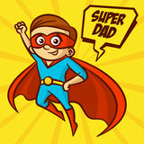 Superheroes Super Dad Vector Illustration Stock Photography