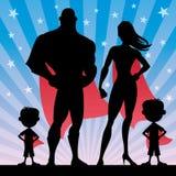 Superherofamiljpojkar Arkivbilder