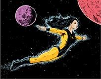 superheroine полета Стоковое фото RF