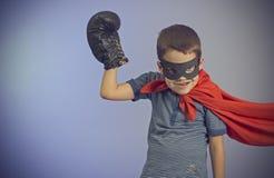 Superherojong geitje royalty-vrije stock afbeelding