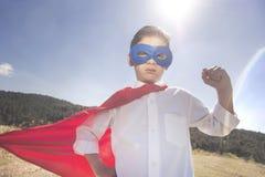 Superherojong geitje Verschillende 3d bal Wijnoogst gefiltreerd beeld met selectieve nadruk Royalty-vrije Stock Afbeelding