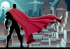 Superheroklocka 3 Arkivfoto
