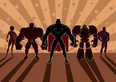 Superherolag Arkivfoto