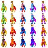 Superheromascotte Royalty-vrije Stock Foto's