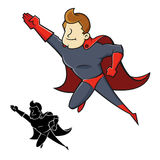 Superheromascotte Stock Afbeelding