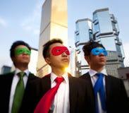 Superheros asiatiques d'affaires, Hong Kong photographie stock libre de droits