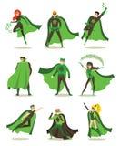 Superheros fêmeas e masculinos do eco Foto de Stock