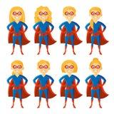 Superherotecknad filmtecken stock illustrationer