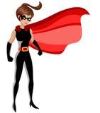 Superherovrouw status royalty-vrije illustratie