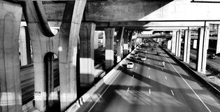 Superhighway de Bangna-Bangpakong no rushhour Imagens de Stock Royalty Free