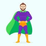 Superhombre del ejemplo Ejemplo del super héroe del vector Imagen de archivo libre de regalías