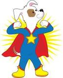 Superhund royaltyfri illustrationer
