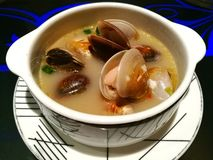 Superieur Clam Soup Royalty-vrije Stock Afbeelding