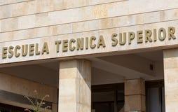Superieure Technische schoolaffiche stock afbeelding