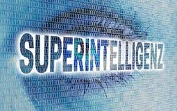 Superintelligenz et x28 ; dans l'eye& superbe allemand x29 d'intelligence ; avec la matrice Photos libres de droits