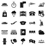 Superintendent icons set, simple style. Superintendent icons set. Simple set of 25 superintendent vector icons for web isolated on white background Royalty Free Stock Photo