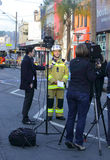 Superintendent Paul Jonstone updates media on tragic explosion Stock Image