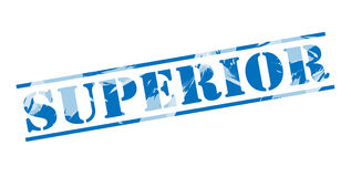 Superior blue stamp Royalty Free Stock Image