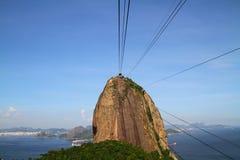 Superior de Sugar Loaf Mountain visto del teleférico foto de archivo