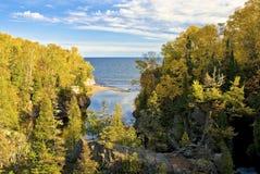 Superior do rio do baptismo, lago, minnesota fotos de stock